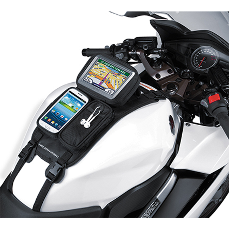 Nelson-Rigg CL-2014-ST Black Medium Journey Mini Motorcycle Tank Bag Strap Mount