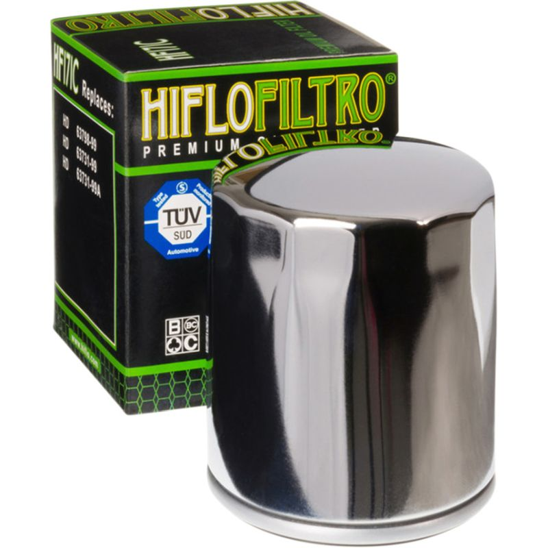 Hiflo Chrome Oil Filter For Harley Twin Cam Models 99-16/ Buell 1200 94-02