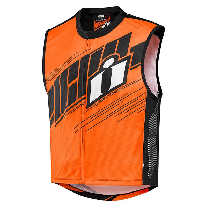 miniature 7 - Icon Mil Spec 2 Men's Street Riding Motorcycle Hi-Viz Vest -Pick Size