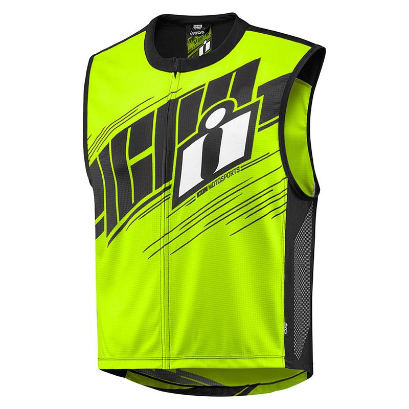 miniature 8 - Icon Mil Spec 2 Men's Street Riding Motorcycle Hi-Viz Vest -Pick Size